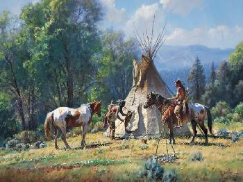 Martin Grelle Empty Lodge Open Edition Giclee on Canvas