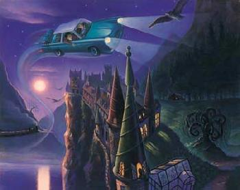 Mary Grandpre Harry Potter - Enchanted Car Giclee on Paper - Part of Portfolio of 7 Prints