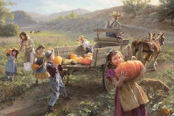 Morgan Weistling End of Harvest Giclee on Canvas