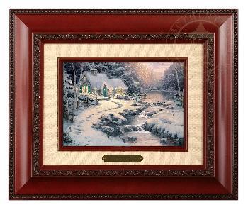 Thomas Kinkade Evening Glow Brushwork Brandy Frame