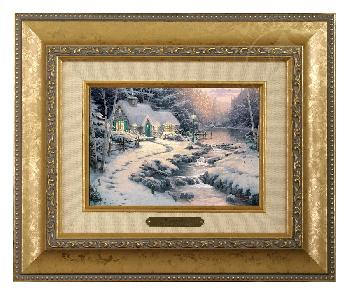 Thomas Kinkade Evening Glow Brushwork Gold Frame