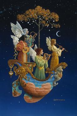 James Christensen Evening Angels Artist