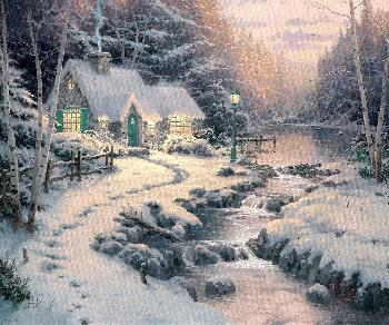 Thomas Kinkade Evening Glow SN Canvas
