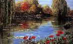 Peter Ellenshaw Fall Reflections - Giverny