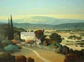 Max Hayslette Fields of Provence I Giclee on Paper
