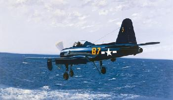 K. Price Randel Fireball On Final - Navy Prop-Turbojet Hybrid Canvas