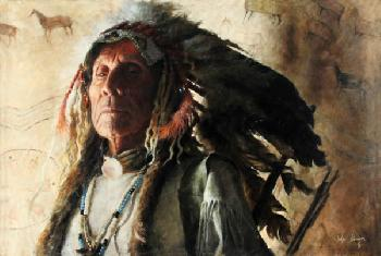 John Coleman First Chief Giclee on Canvas