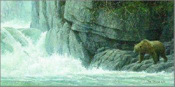 Robert Bateman Fishing Hole - Grizzly Artist