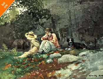 Winslow Homer Flock Of Sheep NO LONGER IN PRINT - LAST ONES!!