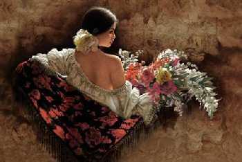Lee Bogle Flores de la Elegancia Giclee on Canvas