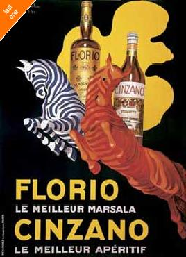 Leonetto Cappiello Florio y Cinzano   LAST ONES IN INVENTORY!!