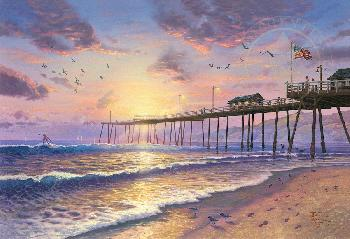 Thomas Kinkade Footprints in the Sand Gallery Proof on Paper