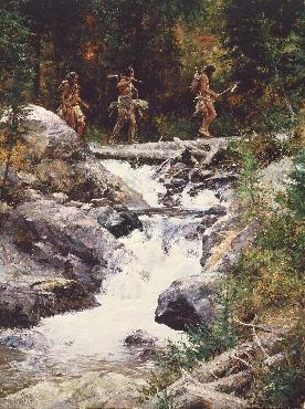 Howard Terpning Foot Soldiers Giclee on Canvas