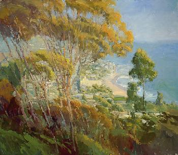 Ken Auster Forest from the Trees Giclee on Canvas