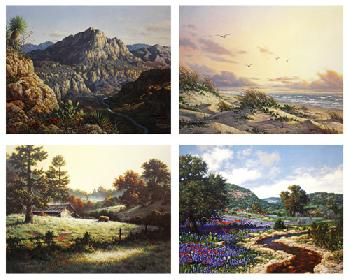 Larry Dyke Four Faces of Texas 4 Print Matched Number Suite