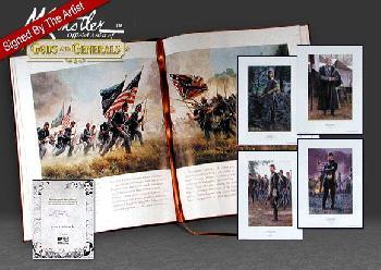 Mort Kunstler Four Generals 4 Print Suitet W/ Book