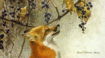 Robert Bateman Fox and Grapes