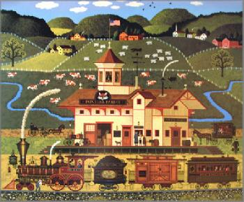 Charles Wysocki Fox Hill Farms Signed Open Edition on Paper