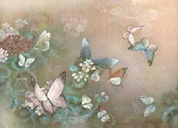 Lena Liu Free Flight II - Pink Butterfly