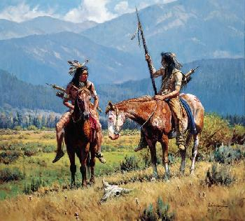 Martin Grelle From Days Past Giclee on Canvas