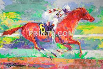 LeRoy Neiman Funny Cide Hand Pulled Serigraph