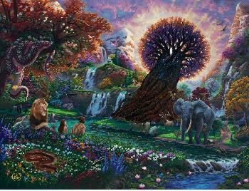 Zachary Kinkade Garden of Eden Heritage Edition Canvas