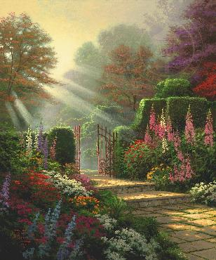 Thomas Kinkade Garden of Grace SN Paper