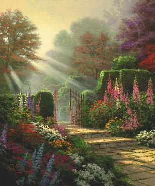 Thomas Kinkade Garden of Grace SN Paper