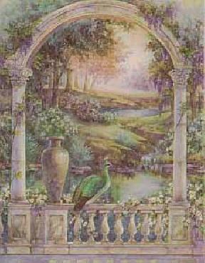 Lena Liu Garden of Paradise - Royal Peahen Canvas