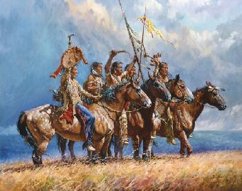 Martin Grelle Gathering Storm Signed Open Edition Giclee on Canvas