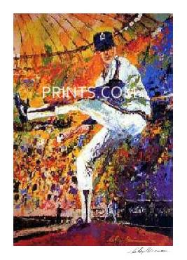 LeRoy Neiman Gaylord Perry Hand Signed by LeRoy Neiman