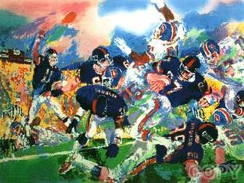 LeRoy Neiman Giants-Broncos Classic Hand Pulled Serigraph