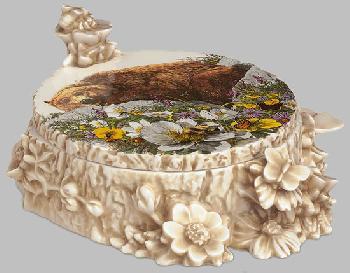 Bev Doolittle Bugged Bear Hand-Signed Porcelain Box