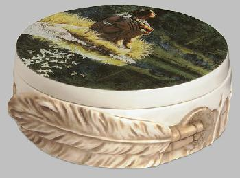 Bev Doolittle Let My Spirit Soar Porcelain Box
