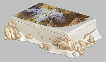 Bev Doolittle Season of the Eagle Hand-Signed Porcelain Box