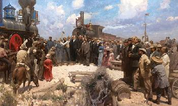 Mian Situ Golden Spike Ceremony Giclee on Canvas