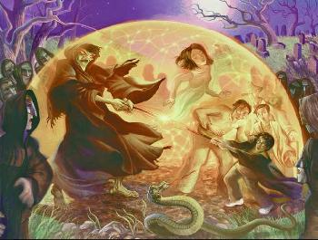 Mary Grandpre Harry Potter - Golden Web Giclee on Paper