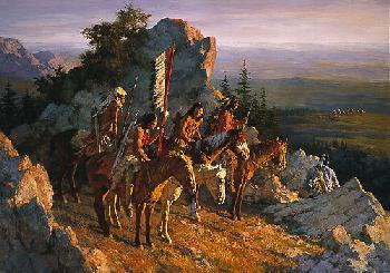Howard Terpning Gold Seekers To The Black Hills