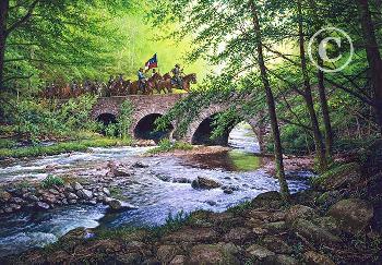 John Paul Strain Goose Creek Bridge Executive Giclee on Canvas