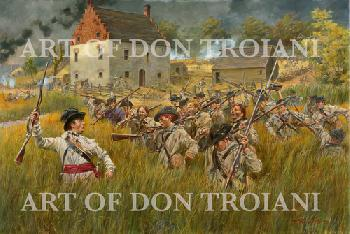 Don Troiani Gowanus Creek, The Battle of Long Island, 1776 Open Edition Giclee on Paper