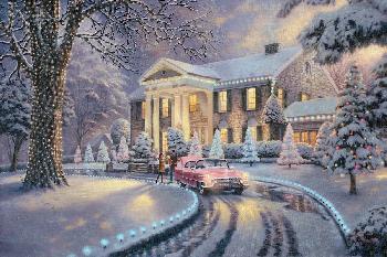 Thomas Kinkade Graceland Christmas SN Paper