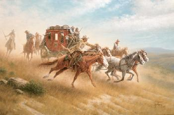 Jack Terry Guarding the Gold Signed Open Edition Giclee on Canvas