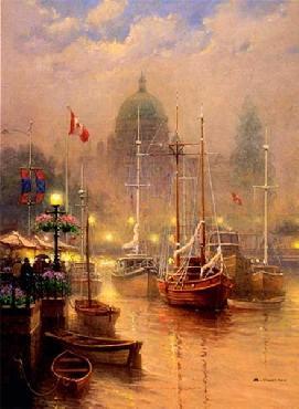 G. Harvey Harbor Fog Serigraph Deluxe Edition