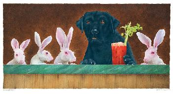 Will Bullas Hare of the Dog Giclee on Canvas