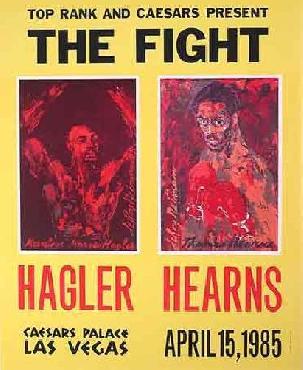 LeRoy Neiman Hearns vs Hagler Boxing