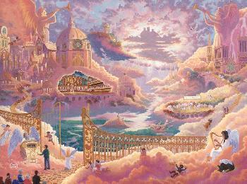 Zachary Kinkade Heaven Studio Edition Canvas