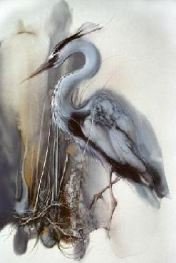 Lee Bogle Heron II Giclee on Paper