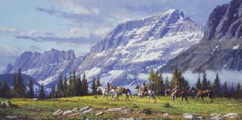 Martin Grelle High Passage Giclee on Canvas
