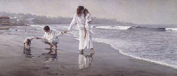 Steve Hanks Holding The Family Together Giclee on Canvas