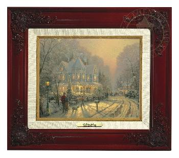 Thomas Kinkade Holiday Gathering Canvas Classic Brandy Frame